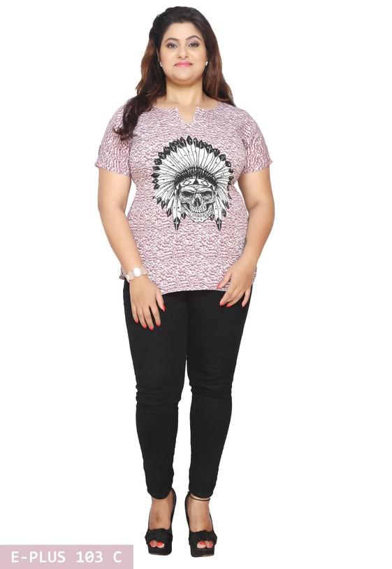 c1d3cc36b55ab 9XL Plus Size Tunics Tops - Printed Plus Size Womens Tunics Tops Kurtis